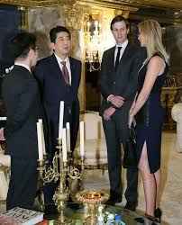 donald trump hosts japanese pm at a u0027penthouse pow wow u0027 with loyal