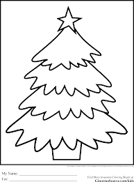 simple christmas tree coloring pages trees glum