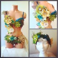 Jungle Forest Cheetah Monokini Dress Bra Cosplay Dance Costume by Forest Fairy Monokini By Revolt Couture Perfect For Any Dance