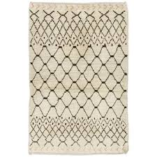 ivory rugs moroccan rug in ivory and brown wool for sale at 1stdibs