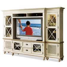 entertainment wall system with framed glass doors by riverside