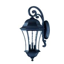 Black Exterior Light Fixtures Acclaim Lighting Waverly Collection 3 Light Matte Black Outdoor