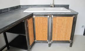 cuisine bois acier décoration cuisine bois et acier 98 roubaix cuisine bois
