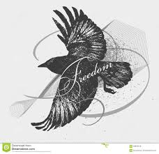 sketch of a raven stock vector image 56859078