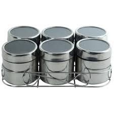 kkd spice rack tea u0026 sugar jar set combo steel containers