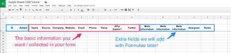 spreadsheet crm how to create a customizable crm with google
