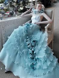 Blue Wedding Dress Blue Wedding Dress Fashion Trendy