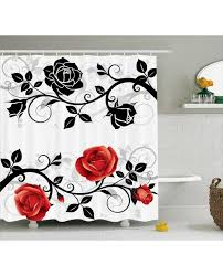 Red White Shower Curtain Red And Black Shower Curtain Red Black And White Shower Curtain