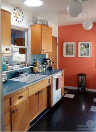kitchen remodel with wood cabinets s economical retro kitchen remodel featuring