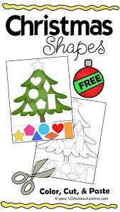 free christmas shapes printable shapes worksheets kids cuts and