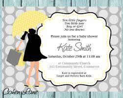 baby shower invitation umbrella invitation modern mom
