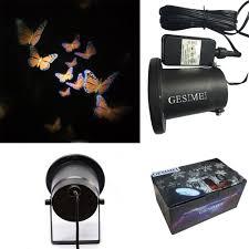 gesimei led spotlights dynamic butterfly pattern projector fairy