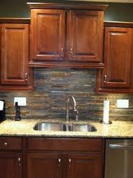 slate backsplashes for kitchens tumbled slate tile mimics stacked only more durable for