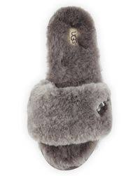 ugg fluff slippers sale lyst ugg fluff shop s ugg fluff slippers lyst