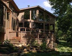 two story log homes two story screened addition covedale oh