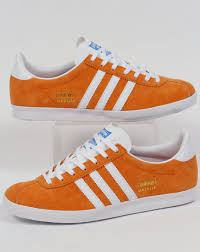 adidas gazelle og trainers bright orange white originals shoes