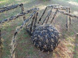outside halloween crafts halloween giant gnarly hairy spider halloween pinterest