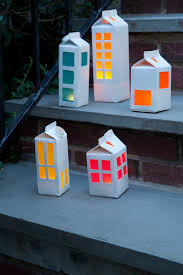 milk carton tea light house extract from craft camp by lark