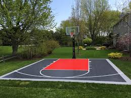 Backyard Basketball Court 26 U0027x26 U0027 Snapsports Backyard Basketball Court Residential