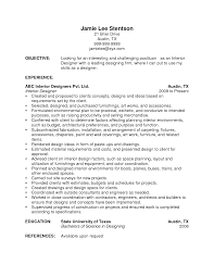 resume experience example resume retail experience sample resume format resume objective examples interior designer