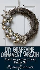 diy grapevine ornament wreath wreaths holidays and easy