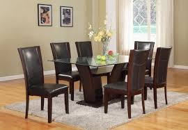 Rooms To Go Dining Room Sets by Cm Camelia Espresso 7 Piece Table And Upholstered Chair Set