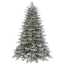 sterling 7 5 ft pre lit cut flocked vermont spruce