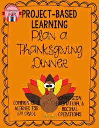 project based learning plan thanksgiving dinner project based