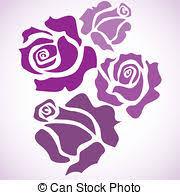 clip art of four color flower rose sketch illustration