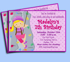 Invitation Cards For Birthday Party Printable Rock Wall Invitation For Rock Climbing Party Printable Or