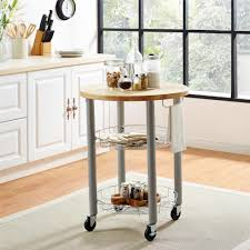 round kitchen carts diy kitchen island cart red kitchen island