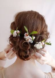 wedding flowers in hair bridal hair flower flower hair pins wedding hairpiece pink