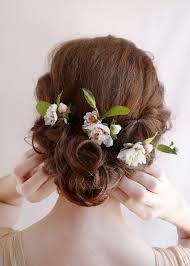 wedding flower hair bridal hair flower flower hair pins wedding hairpiece pink