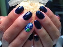 seattle seahawks nail designs