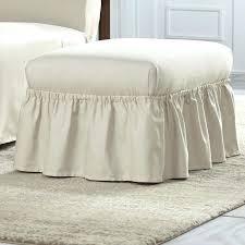 Stretch Ottoman Slipcover Lovely Oversized Ottoman Slipcover Cotton Duck Ruffle Ottoman