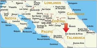 san jose costa rica on map about san gerardo de rivas costa rica