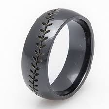 Mens Gunmetal Wedding Rings by Amazon Com Black Zirconium Baseball Wedding Band 8mm Comfort Fit