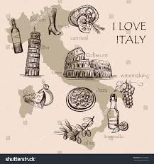 Map Of Pompeii Italy by Creative Map Italy National Italian Food Stock Vector 361068308