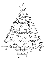christmas tree coloring pages kids adults tree