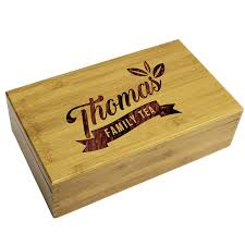 personalized wooden gifts personalized wooden tea box storage organizer caddy