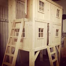 bunks with stairs my next projects pinterest bunk bed plans our family project diy loft bed bunk bed playhouse kids bed
