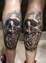 15 skull leg tattoos