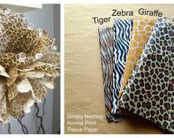 leopard print tissue paper 1 animal print pom pom tissue paper pom pom choose tiger