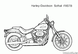 coloring page motorcycles