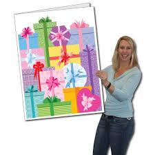 amazon com 2 u0027 x 3 u0027 giant birthday card presents w envelope