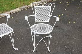 vintage 1950s wrought iron patio furniture set settee 2 chair