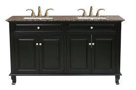 bathroom elegant monace double sink bathroom vanity set in black