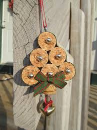 christmas tree wine cork ornament by thekrazycrafters on etsy