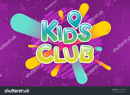 kids club colorful banner caramel text stock vector 716933899