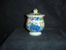 willow pattern jam pot mason s regency pattern jam pot 6 00 picclick uk